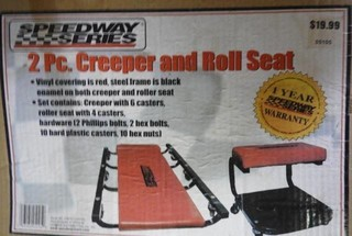 Speedway series 2 piece creeper and roll seat