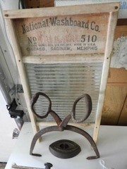 National washboard company washboard, pair of