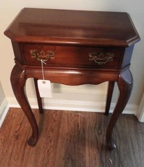 Single drawer Cherry finish side table 12? x21