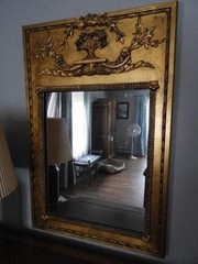 Gold styled wall mirror 32? x 48? and (2)