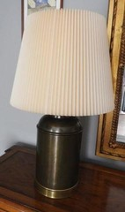 Brass table lamp 31 inches tall