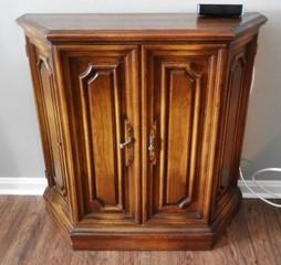 Oak 2 door storage cabinet 11? x 42?