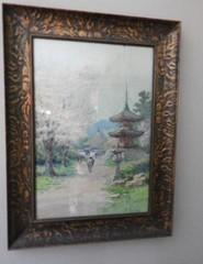 Oriental style print by K.Munabe 17? x 24?