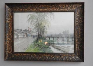 Oriental style print by K.Munabe 18? x 24?