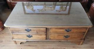 Mahogany two drawer coffee table 30?x52