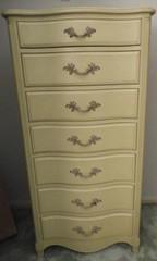 Green seven drawer lingerie chest 18? x 25?