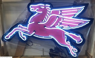 *New* Pegasus Neon Sign w/ Backing