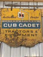Cub Cadet Authorized Dealer Tin Sign