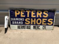 Peters Diamond Brand Shoes Tin Tacker Sign