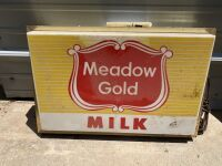 Meadow Gold Milk Lighted Plastic Sign