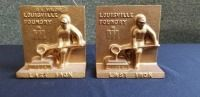 International Harvester Louisville Foundry 1984 Last Iron cast iron bookends