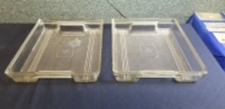 International Harvester (2)-glass refrigerator trays