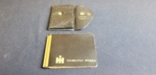 International Harvester (2)-Hamilton Works leather items