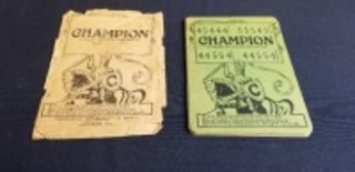 Champion Harvesting Machines heavy paper age guessing game