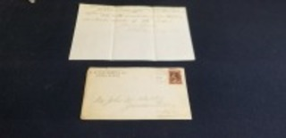 H.H. Orendorff & Co. Canton Agricultural Store 1884 dated letter w/envelope