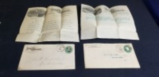 (2)-Parlin & Orendorff letters w/envelopes