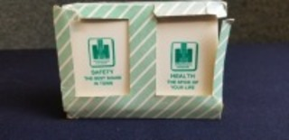 International Harvester plastic Health/Safety salt & pepper set