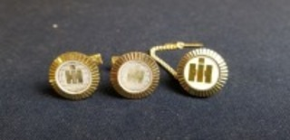 International Harvester cuff link and tie tac set