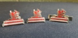 International Harvester cuff link and tie bar set