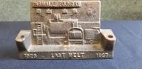 International Harvester Farmall Foundry Last Melt desk display/pen & pencil holder