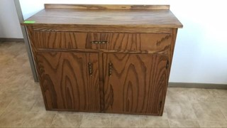 Solid wood cabinet with drawer 40x16.5x30.5 inch