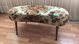 Vintage floral bench seat 36x15 inches