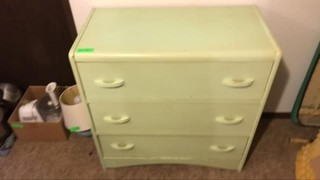 Solid wood Painted waterfall furniture 3 drawer