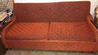 Vintage hide-a-bed sofa 65 inches wide mattress