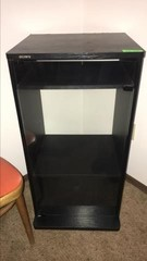 Sony stereo cabinet w glass door and hinged top