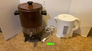 Coffee perk & like new PC electric kettle