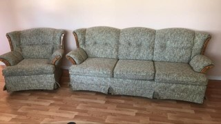 Matching couch 86x35 in and chair 39x35