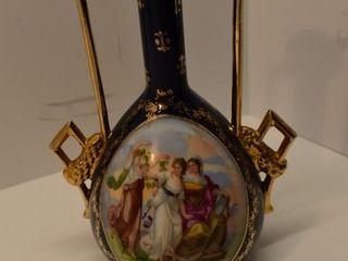 Painted Handled Vase