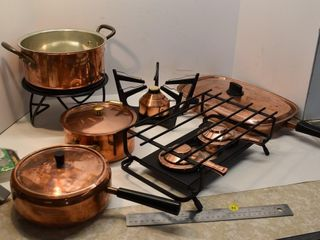 Copper Cookware and Warmers