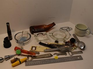 Ash Trays, bottle openers and misc.
