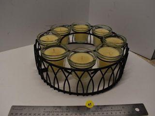 Round Candle Centerpiece