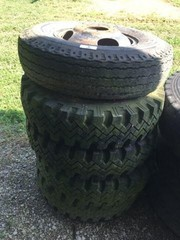 Lot Of Five Truck Tires