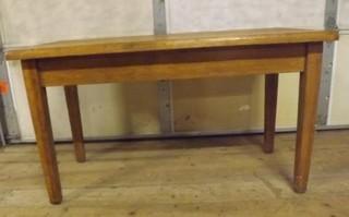 Vintage Oak School Table