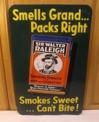 Original Sir Walter Raleigh Sign VG++