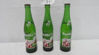 Vintage Mountain Dew 3 Bottles ( Full )