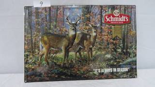 Schmidt Tin Sign Buck & Doe