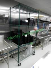 Metal Wire Shelf on Wheels