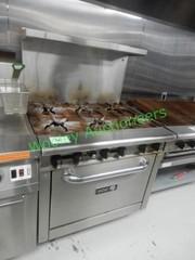 Asber 6 Burner Restaurant Range with Oven