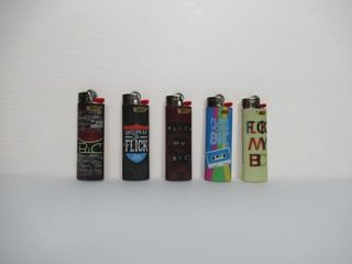 Lot of (5) Assorted Bick Lighters