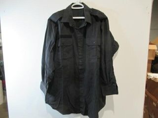 2  Black long Sleeve Naval Combat Shirt Size 17