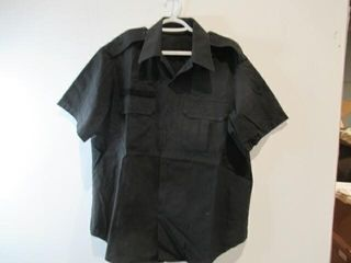 2  Black Short Sleeve Naval Combat Shirt Size 17