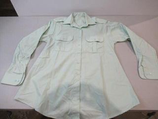 Womens Green Officers Dress Shirt  Army Sz M12 32