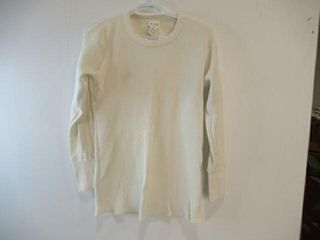 2  White Thermal long Sleeve Shirt  Size Medium