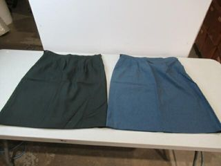 2   1  Black Green    1  Blue Army Skirt Sz 6336