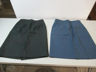 2   1  Black Green    1  Blue Army Skirt Sz 6332