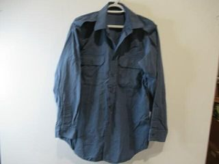 2  Blue long Sleeve Shirt Size 15 5  34
